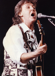 TWA-0071005 © WestPix Paul McCartney performs at The New World Tour concert at Subiaco Oval in 1993. Picture: Guy Magowan