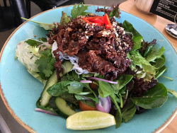 TWA-0071019 © WestPix Thai beef salad at Doric Street Cafe and Kitchen. Picture: Hermione Stott