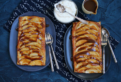 TWA-0071060 © WestPix Winter puddings. Apple Frangipane Tarts with Caramel Sauce by Margaret Johnson. Picture: Megan Powell The West Australian.