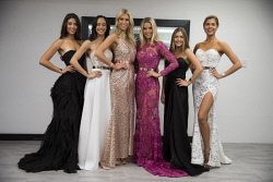 TWA-0071075 © WestPix Miss Universe competition. Finalists Laura O'Neill, Danica Butler, Grady Wulff, Olivia Stanley, Laine Hoffman, Jordy Kuriata Picture: Simon Santi The West Australian