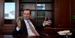 TWA-0071076 © WestPix Premier Mark McGowan reflects on his first 100 days in office. Picture:Sharon Smith The West Australian