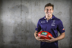 TWA-0072176 © WestPix Fremantle player Nick Suban will be playing his 150th game in this weekend's Derby. Picture: Simon Santi The West Australian
