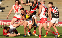 TWA-0072331 © WestPix South Fremantle vs Perth WAFL at Fremantle Oval. 4 Aiden Tropiano. Picture: Sharon Smith The West Australian