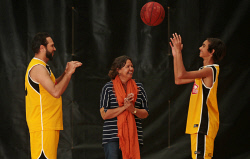 TWA-0072428 © WestPix Violet Pickett, centre, with her son Roger Pickett and his son Jermaine Pickett. Roger and Jermaine were on court in the same team at the Bendat Basketball Centre as part of NAIDOC week. 9 JULY 2017 Picture: Danella Bevis The West Australian