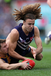 TWA-0072435 © WestPix West Coast Vs Fremantle Dockers at Subiaco Oval. Griffin Logue. Picture: Sharon Smith The West Australian