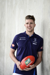 TWA-0073279 © WestPix Fremantle Dockers training. Pictured is Luke Ryan who has just been announced as the rising star .    Picture : Ian Munro The West Australian  08/08/17