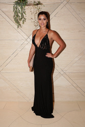 TWA-0076199 © WestPix Sandover Medal at Crown Ballroom, Crown Towers on Monday September 18th, 2017.   Bianca Otten  Dress by Ae'lkemi  Shoes and Clutch by Betts  Picture: John Koh