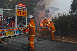 WAN-0000212 © WestPix Atwell fire Picture: Simon Santi/The West Australian 03/02/2014 ######