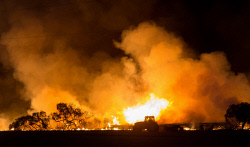 WAN-0000345 © WestPix Waroona fire backburning after sunset. Pic Mogens Johansen, The West Australian