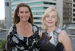 WAN-0018356 © WestPix UWA Business Leaders' Cocktail Party - Wildflower Restaurant (part of the refurbished Como The Treasury building)   Fran Yukich, Alison Gaines  Picture: Ben Crabtree The West Australian. 26/11/2015