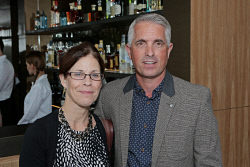 WAN-0018358 © WestPix UWA Business Leaders' Cocktail Party - Wildflower Restaurant (part of the refurbished Como The Treasury building)   Dawn Freshwater and Gary Jeneson  Picture: Ben Crabtree The West Australian. 26/11/2015