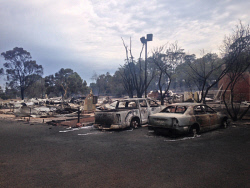 WAN-0020540 © WestPix Waroona bushfire. The fire has devastated the town of Yarloop with 95 homes destroyed. Picture: Simon Hydzik / 7 News