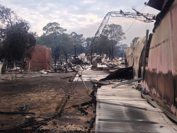 WAN-0020543 © WestPix Waroona bushfire. The fire has devastated the town of Yarloop with 95 homes destroyed. Picture: Simon Hydzik / 7 News