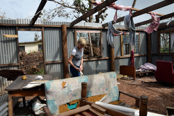 WAN-0025722 © WestPix Julie Bishop inspecting a house destroyed by Cyclone Winston in Rakiraki. Pic by Andrew Tillett The West Australian