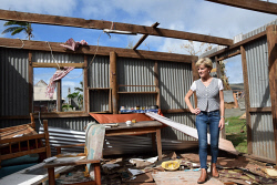 WAN-0025723 © WestPix Julie Bishop inspecting a house destroyed by Cyclone Winston in Rakiraki. Pic by Andrew Tillett The West Australian
