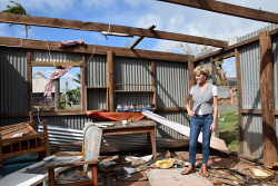 WAN-0025724 © WestPix Julie Bishop inspecting a house destroyed by Cyclone Winston in Rakiraki. Pic by Andrew Tillett The West Australian