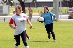 ALA-0002591 © WestPix All Stars' goal keeper Mave Driffle. Picture: Laurie Benson Albany Advertiser