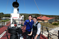ALA-0002997 © WestPix Albanys Historic Whaling Station's Alice Ackley and Jane Hare.  Picture: Laurie Benson Albany Advertiser