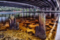 FEA-0007274 © WestPix View under the new Narrows bridge. Picture: Shaun Fearn