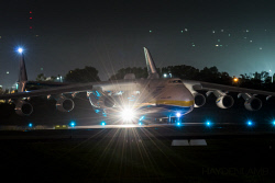 HAY-0006132 © WestPix Departure of the Antonov AN-225 from Perth Airport in the early morning. Picture: Hayden Lamb