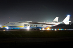 HAY-0006133 © WestPix Departure of the Antonov AN-225 from Perth Airport in the early morning. Picture: Hayden Lamb