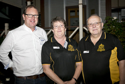 KGM-0023365 © WestPix Business After Hours at the WA Museum Kalgoorlie-Boulder, Dan Fisher, Ann Spearing and Sam Spearing. (Picture: Louise White) 27th April 2016