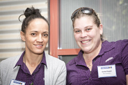 KGM-0023367 © WestPix Business After Hours at the WA Museum Kalgoorlie-Boulder, Julene Sinclair and Carlie Powell.  (Picture: Louise White) 27th April 2016