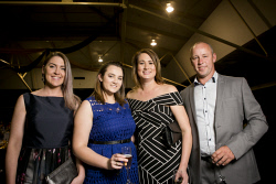 KGM-0035048 © WestPix KBCCI Business Awards, Jesica McKenzie, Ellenore Stokes, Mia Hicks and Peter Hicks. (Picture: Louise White) 26th August 2017