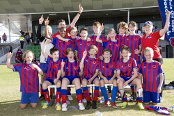 KGM-0035438 © WestPix Goldfields Soccer Association, Twin City Under 13s premiers. Picture: Mary Meagher.