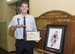 KGM-0036787 © WestPix Goldfields Sports Star of the Year and Sporting Hall of Fame.  Picture: Mary Meagher. Rising Star of the Year to Ben Miller.