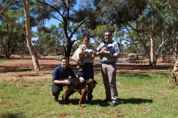 KGM-0037880 © WestPix RSPCA WA business services manager Nick Lamb, Kalgoorlie branch inspector Fiona Brown and RSPCA WA executive manager of business services Ban Cave. Picutre: Joanna Delalande.