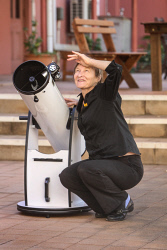KGM-0040451 © WestPix Museum of the Goldfields education officer Peta Osborne is shooting for the moon. Picture: Kelsey Reid