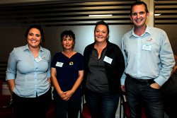 KGM-0040475 © WestPix O'Regan Group Insurance Brokers Manager of Kalgoorlie Office Alice Pargiter, Royal Wolf Trading Australia Pty Ltd Senior Sales Execuitive Anita Spiers, Power Torque Engineering Admin Manager Narelle Macaulay and O'Regan Group Insurance Brokers Manager of Kalgoorlie Office Kevin Luck. Picture: Tori O'Connor