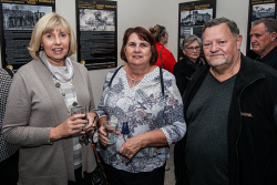 KGM-0040883 © WestPix Eastern Goldfields Historical Society Paved With Gold exhibition opening Caron Milner with Kerry Greenhill and Roger Greenhill. Picture: Kelsey Reid
