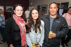 KGM-0040887 © WestPix Eastern Goldfields Historical Society Paved With Gold exhibition opening Jacinta Ireland, daughter Cara  Ireland, 12 and husband Danny  Ireland. Picture: Kelsey Reid