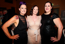 KGM-0041064 © WestPix Kalgoorlie-Boulder's 125th anniversary Historical Gala Ball. Toni Keown, Lauren Radcliffe and Casey Radford. Picture: Tori O'Connor