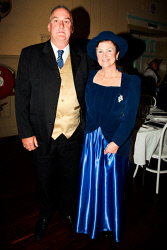 KGM-0041068 © WestPix Kalgoorlie-Boulder's 125th anniversary Historical Gala Ball. Sue Gianni and Gary Ellis. Picture: Tori O'Connor