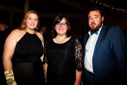 KGM-0041080 © WestPix Kalgoorlie-Boulder's 125th anniversary Historical Gala Ball. Natalie Coxon, Sabina Shugg and Jared Olsen. Picture: Tori O'Connor