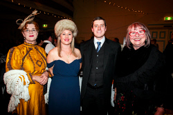KGM-0041085 © WestPix Kalgoorlie-Boulder's 125th anniversary Historical Gala Ball. Karen Gurry, Claire Weir, Tim Cudini and Lucia Pichler. Picture: Tori O'Connor