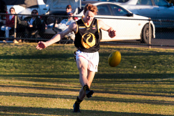 KGM-0041102 © WestPix WACFL New Holland State Country v Goldfileds Football League at Sir Richard Moore Sports Center WA Country's Jaimon Alone. Picture: Tori O'Connor