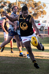 KGM-0041164 © WestPix WACFL New Holland State Country v Goldfileds Football League at Sir Richard Moore Sports Center WA Country's Eddie Dann. Picture: Tori O'Connor