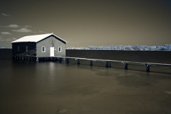 SMI-1400873 © WestPix Infrared photo of the iconic Crawley Boatshed