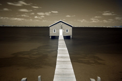 SMI-1400874 © WestPix Crawley Boat shed photographed in Infrared. Picture: Peta Smith