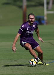 SUN-1404028 © WestPix Perth Glory training at McGillivray Oval, Mt Claremont. Rostyn Griffiths. Picture: Daniel Wilkins