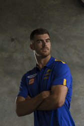 SUN-1404153 © WestPix Picture of West Coast ruckman Scott Lycett at Subiaco Oval, Perth. Picture: Ross Swanborough. 18 January 2018
