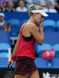 SUN-1404165 © WestPix Hopman Cup final at Perth Arena. Between Switzerland and Germany. Pictured - ANGELIQUE KERBER( Team Germany ) Picture: Daniel Wilkins