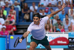 SUN-1404166 © WestPix Hopman Cup final at Perth Arena. Between Switzerland and Germany. Pictured - ROGER FEDERER ( Team Switzerland )  Picture: Daniel Wilkins
