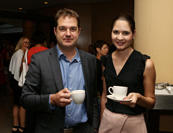 TWA-0041552 © WestPix West Business Events Hyatt Regency Perth-Grand Ballroom. Asia Insight. Social pics pic 9 Paul Murray, Rebecca Davis. Picture  Gerald Moscarda  The West Australian. 16 March 2016