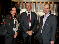 TWA-0057825 © WestPix Global Iron Ore Steel Forecast. Socials. Vivienne Powe BHP, Julius Matthys BHP and Jeff Zweig BHP. Picture: Dione Davidson / The West Australian. 11 March, 2014.