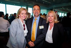 TWA-0061686 © WestPix AHA WA Christmas Reception at River View Rooms, Perth Convention and Exhibition Centre on December 7th, 2015. Photo - Lisa Scaffidi, Peter Katsambanis & Katie Hodson-Thomas Picture: Alan Chau The West Australian.